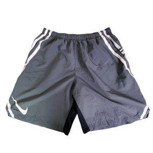 Nike Men's Dri Fit Gray Football Shorts Large